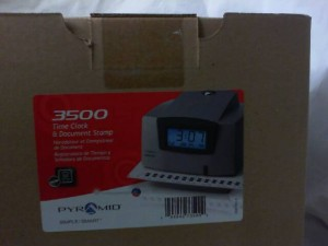 PYRAMID 3500 TIME CLOCK NEW IN BOX