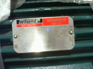 RELIANCE ELECTRIC 7403829-001 MOTOR