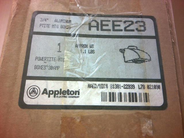 4 Appleton AEE23 Aluminum Powertite Mounting Box