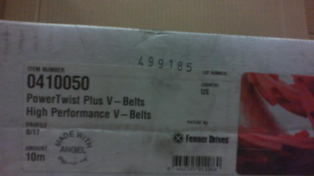 "4 Foot Fenner Drives PowerTwist Plus 3L 3//8/"" Link V-Belt"