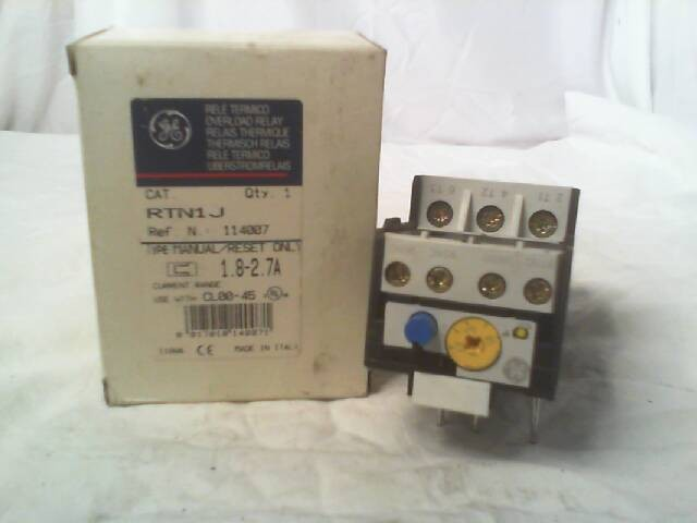 GENERAL ELECTRIC RTN1J RELAY NEW IN BOX