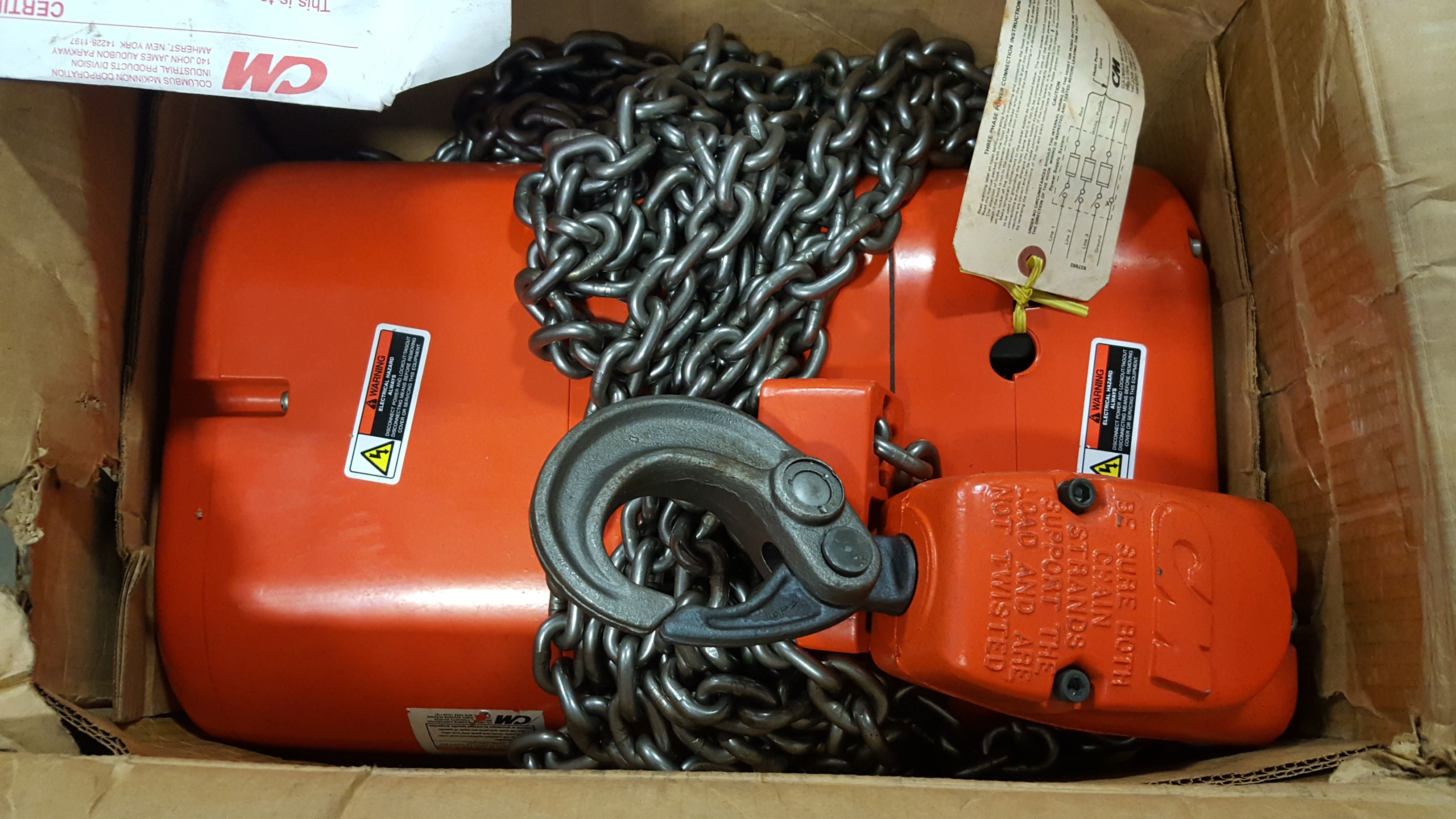 Cm Lodestar Rr2 Electric Chain Hoist New In Box Ideal Surplus Electrical Products 2 Ton