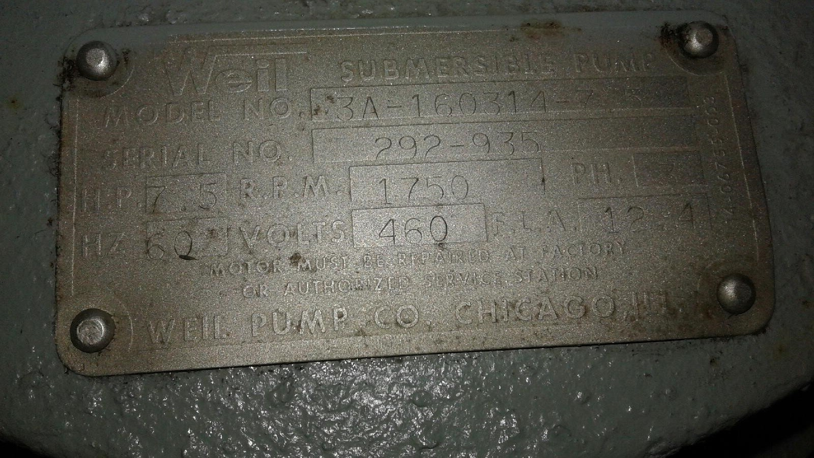 Weil 3A16031475 Used