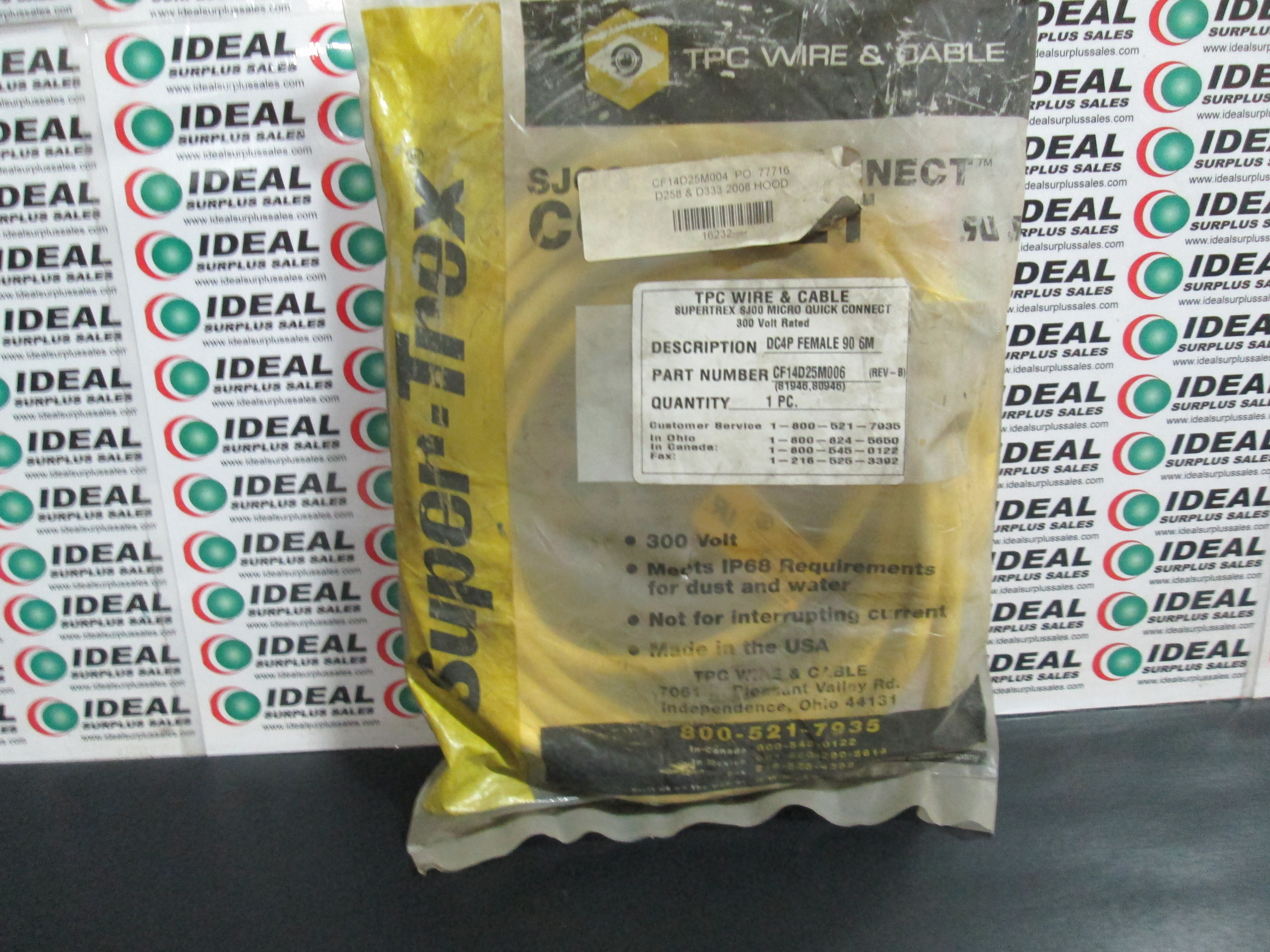 Tpc Wire CF14D25M006 New In Box