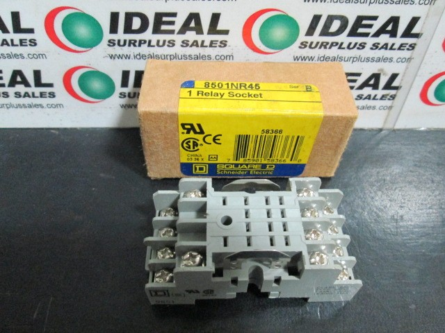 Square D 8501NR45 Relay Socket NEW