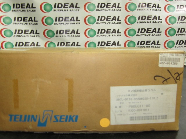 FANUC A97L-0118-0338#250-118.5 REDUCER J1 AXIS REDUCER, M300 NEW IN BOX