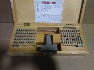 Young Bros 61069 Steel Stamping Kit - New in Box