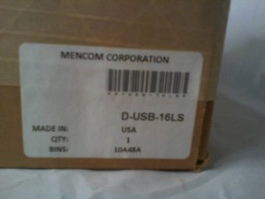 Mencom Connector Enclosure DUSB16LS NEW IN BOX