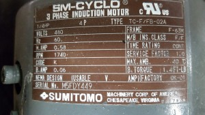 SUMITOMO TC-F/FB-02A INDUCTION MOTOR Used