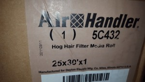 DAYTON 5C432 HOG HAIR FILTER New in Box