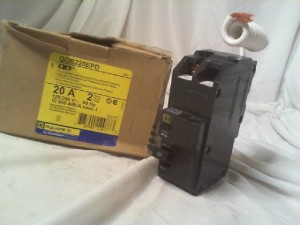 Square D QOB220EPD 20 Amp Circuit Breaker - New in Box