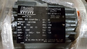 Lincoln LM21378BD AC Motor - New in Box