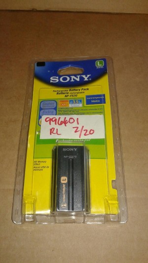 SONY NP-F570 RECHARGEABLE BATTERY PACK Sealed in Factory Packaging