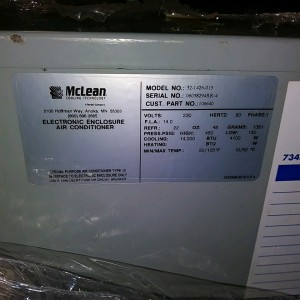McLean M52-1426-013 Side Mounted Air Conditioning Unit - Used Nice!