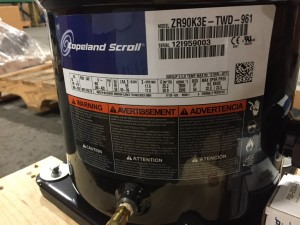 Copeland ZR90K3E-TWD-961 High Temp Scroll Compressor