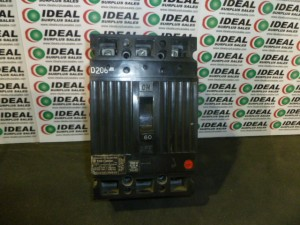 GENERAL ELECTRIC TED134060 BREAKER USED
