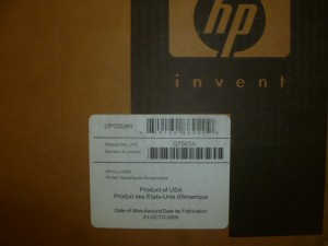 NEW Q7501A HP Color JaserJet 4700 Printer Stand NEW IN BOX!