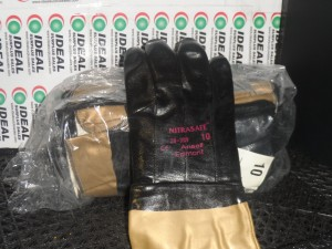 ANSELL NITRASAFE 28-359 NITRILE COATED SAFETY GLOVES, SIZE 10 LARGE (12 PAIR/PKG) NEW IN BOX